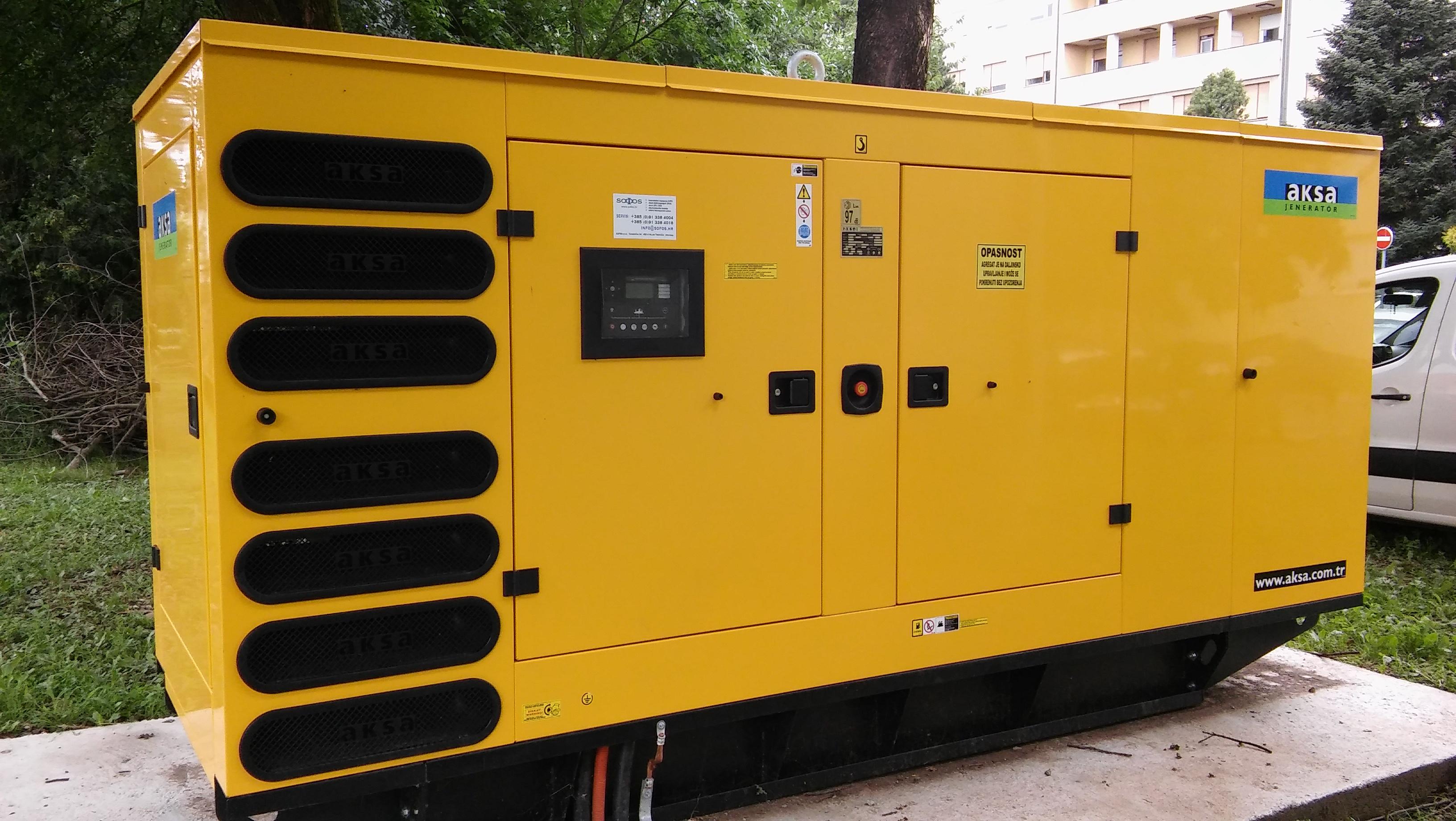 Diesel agregat 250 kVA – objekt u Varaždinu