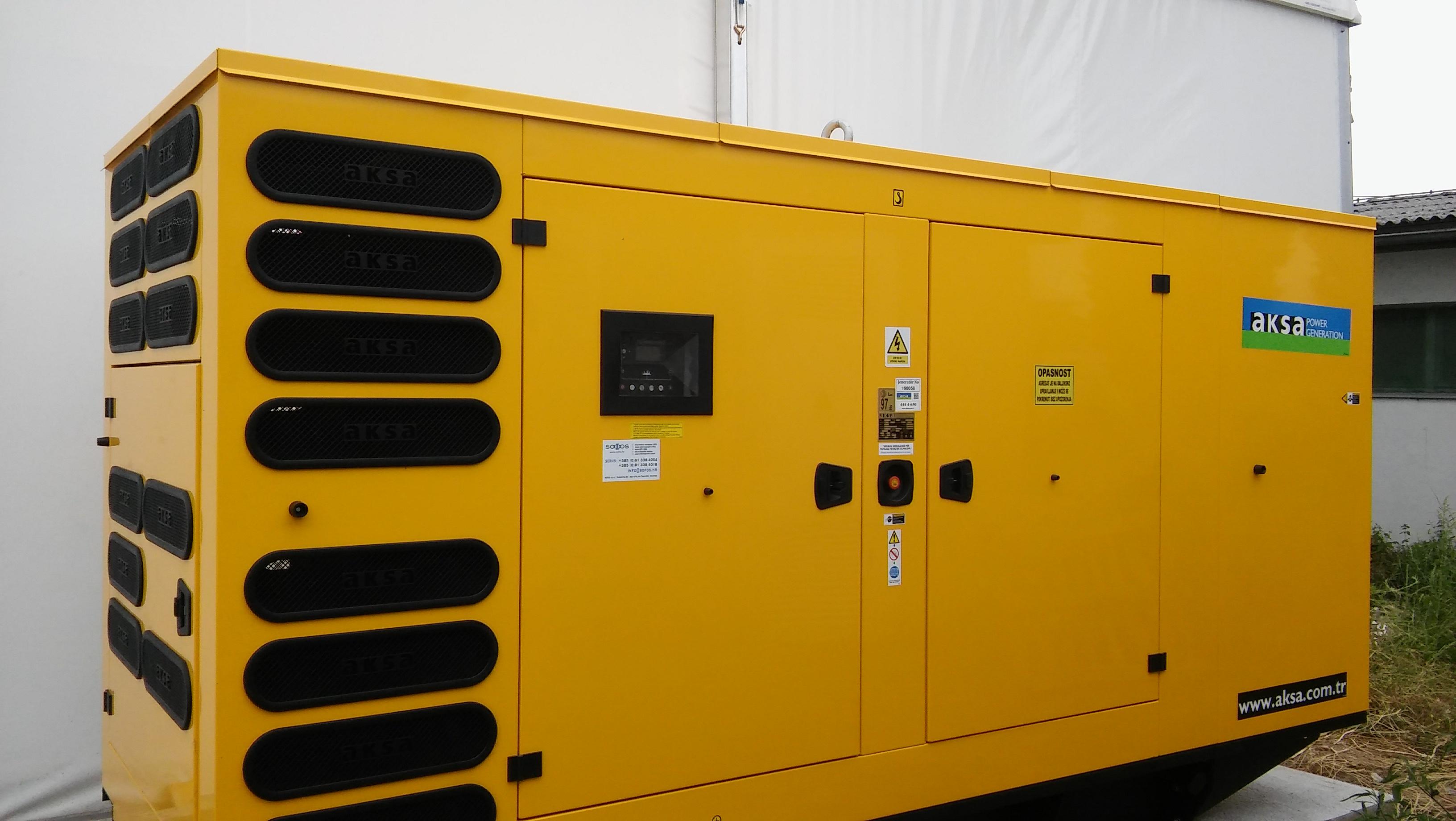 Diesel agregat Aksa 425 kVA – Pan-Pek Zagreb